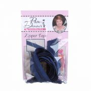 3 yards of Reversible Coil Zipper Tape with 8 Slides Navy by Decorating Diva - Zipper By the Yard