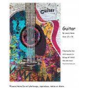 Guitar Collage Pattern by Laura Heine by Fiberworks - Collage