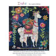 Indie...The Llama Collage Pattern by Laura Heine by Fiberworks - Collage