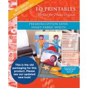 EQ Printables Cotton Satin Inkjet Fabric Sheets (6) by Electric Quilt - Inkjet Fabric Sheets