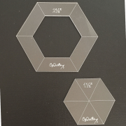 """OzQuilts 1½"""" Quilt-As-You-Go Hexagons by OzQuilts - OzQuilts Templates"""