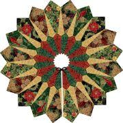 Dresden Christmas Tree Skirt Kit by Black Quilt Fox Designs by Robert Kaufman Fabrics - Quilt Kits