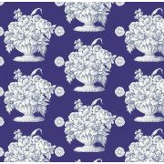 Royal Blue Stone Flower Wideback 2.74m x 2.5 metres by The Kaffe Fassett Collective - Stone Flower Quilt Backing