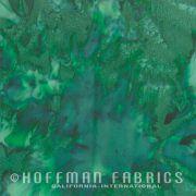 Hoffman Bali Batiks 1895 - 166 Evergreen by Hoffman 1895 Watercolour Batik - Hoffman 1895 Watercolours Batik