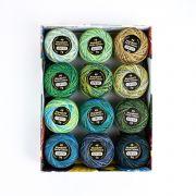Wonderfil Eleganza Variegated Pack - Meadow by Wonderfil Eleganza Perle 8 Balls - Eleganza Perle 8 Balls