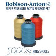 Robison-Anton Embroidery Thread King Size 5000 metres by Robison-Anton Thread - Robison Anton Embroidery Thread