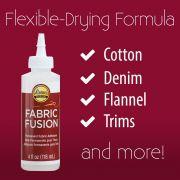 Aleene's Fabric Fusion Permanent Fabric Adhesive 4oz by Aleene's - Glue