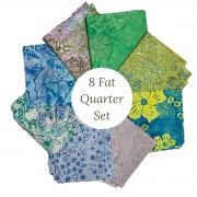 Bali Batik 8 Fat Quarter Collection by  - Clearance