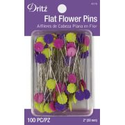 Dritz Flat Flower Head Pins (100) by Dritz - Flower Head Pins