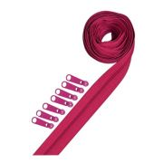 3 yards of Reversible Coil Zipper Tape with 8 Slides Raspberry by Decorating Diva - Zipper By the Yard