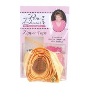 3 yards of Reversible Coil Zipper Tape with 8 Slides Yellow by Decorating Diva - Zipper By the Yard