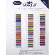 King Tut Colour Card 1 - First 50 Colours by Superior King Tut Thread - Thread Colour Charts