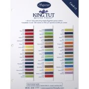 King Tut Colour Card 3 - Third Set 32 Colours by Superior King Tut Thread - Thread Colour Charts