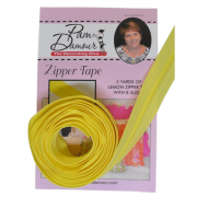 3 yards of Reversible Coil Zipper Tape with 8 Slides Lemon by Decorating Diva - Zipper By the Yard