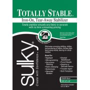 """Totally Stable Iron-on Tear-Away Stabilizer Black 20"""" x 1 yard"""