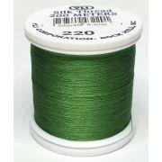 YLI Silk 100 Thread -220 Christmas Green