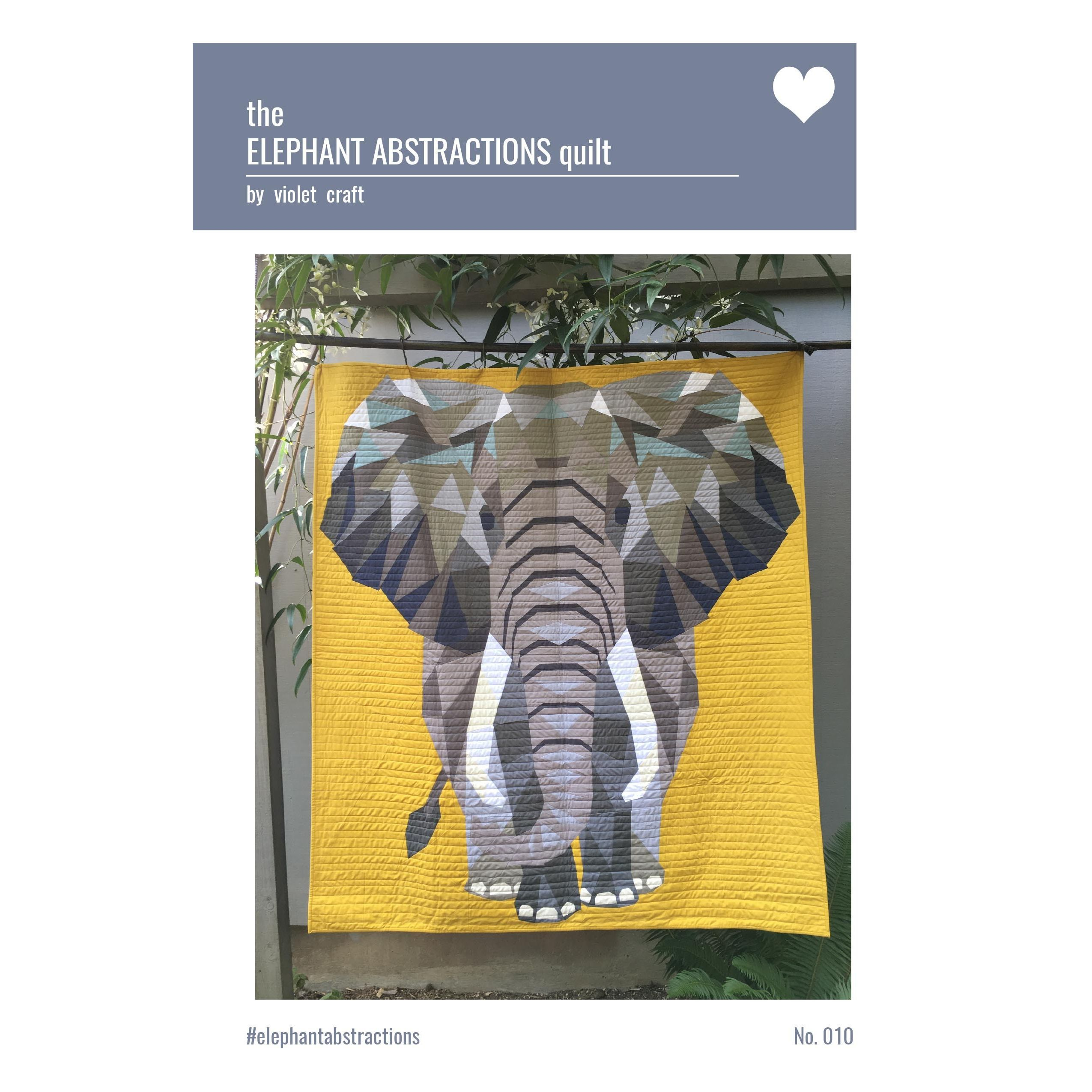 Elephant Abstractions Quilt Pattern by Violet Craft : elephant quilt patterns - Adamdwight.com