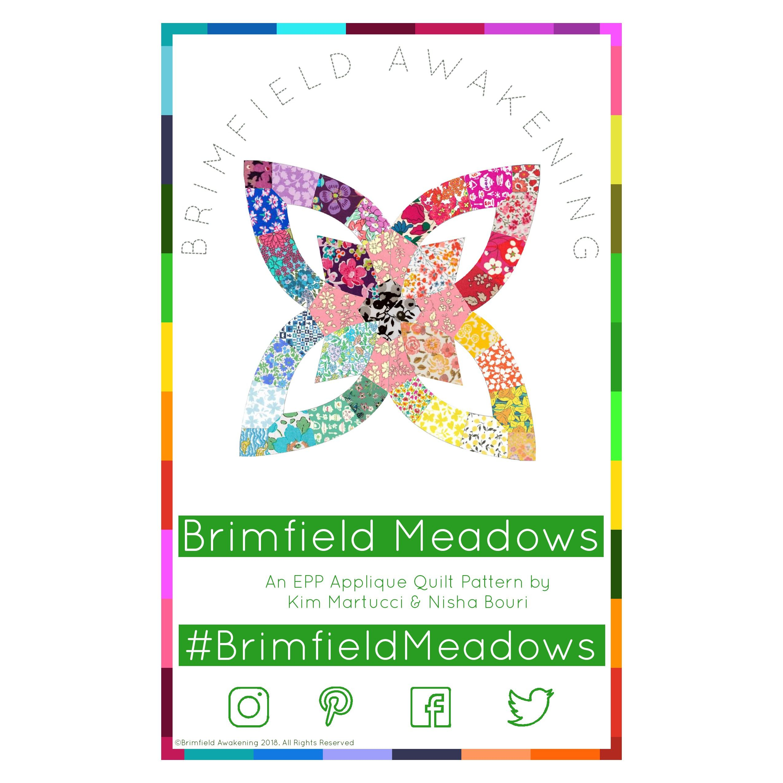 Brimfield Meadows English Paper Piecing Applique Pattern