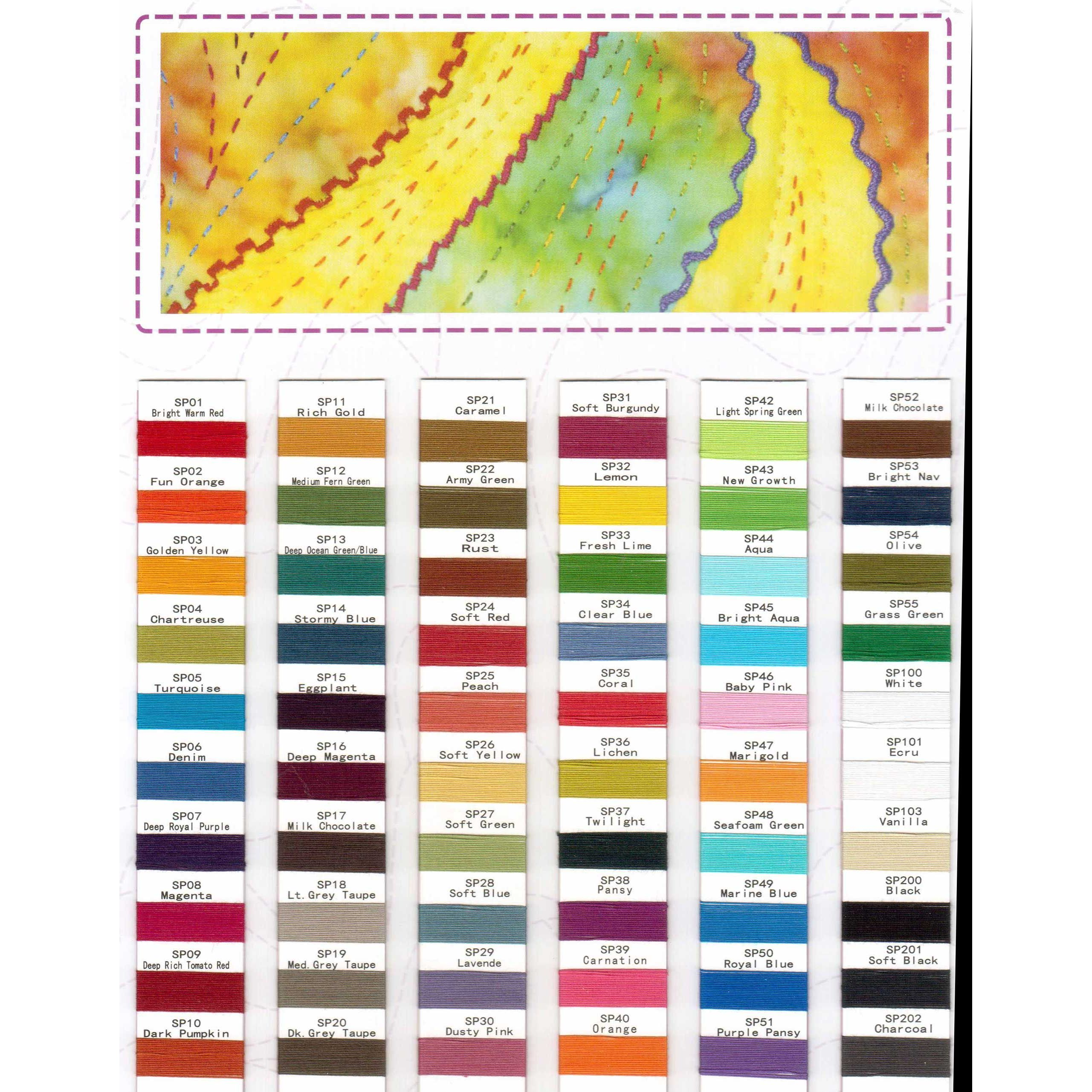 Wonderfil spagetti thread colour chart by wonderfil threads wonderfil spagetti thread colour chart by wonderfil threads thread colour charts nvjuhfo Images