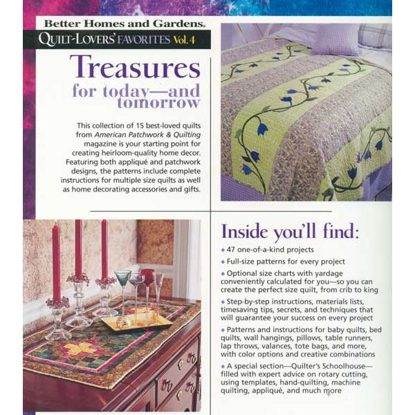 Better Homes And Gardens Quilt Lovers Favorites Volume