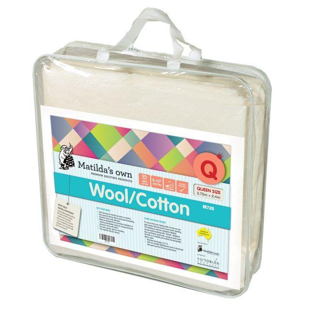 Matilda's Own 60% Wool 40% Cotton Batting, Queen Size 2.75 x 2.4 metres by Matilda's Own - Pre-Cut Batts