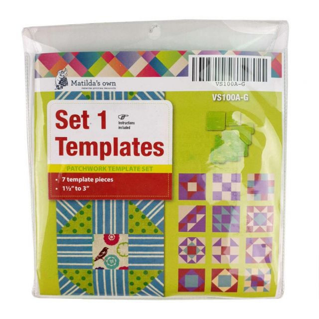 Basics Template Set 1 (A to G) by Matilda's Own - Quilt Blocks