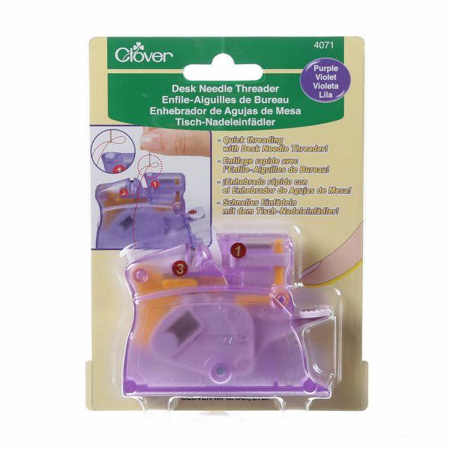 Clover Purple Desktop Needle Threader by Clover - Needle Threaders & Cutters