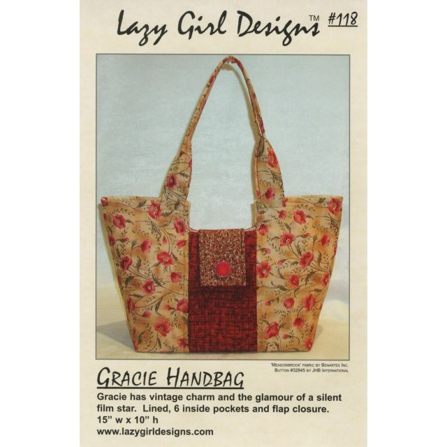 Gracie Bag Pattern by Lazy Girl Designs by Lazy Girl Designs - Bag Patterns