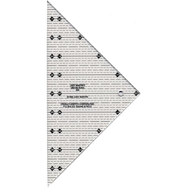 Shapemaker 45 Degree Ruler by Judy Martin by Judy Martin Triangle Rulers - OzQuilts