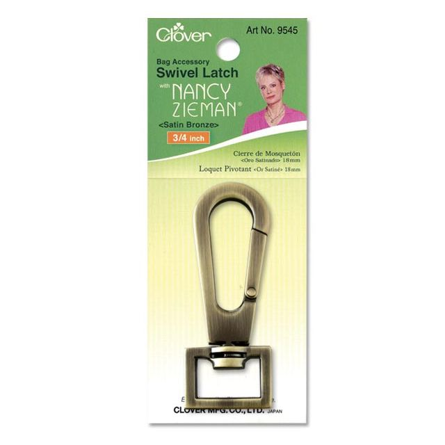 "Clover Swivel Latch 3/4"" (Satin Bronze) by Clover Hardware for Bags - OzQuilts"