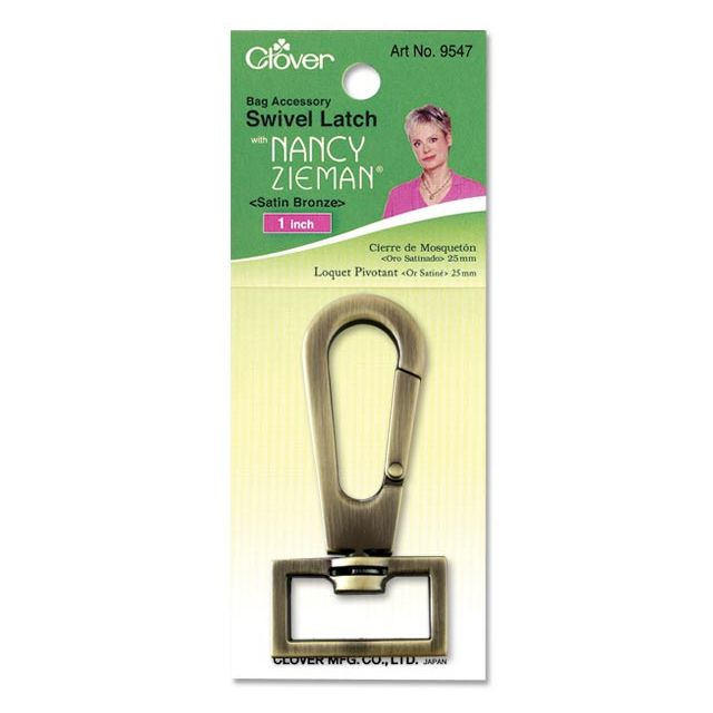"Clover Swivel Latch 1"" (Satin Bronze) by Clover Hardware for Bags - OzQuilts"