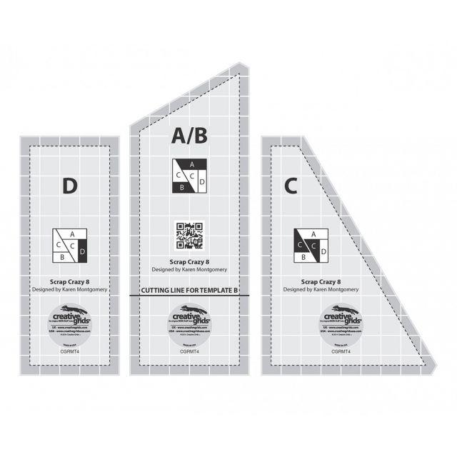 "Creative Grids 8"" Scrap Crazy Templates by Creative Grids - Quilt Blocks"