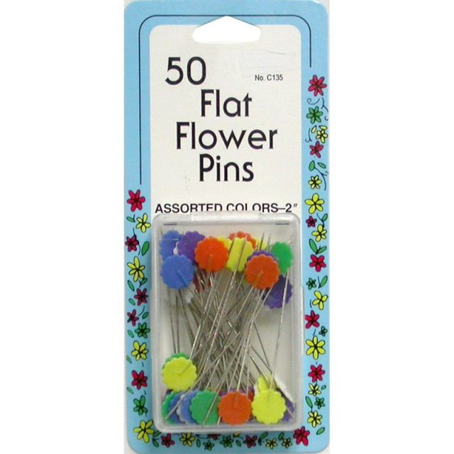 Collins Flat Flower Head Pins (50) by Collins - Flower Head Pins
