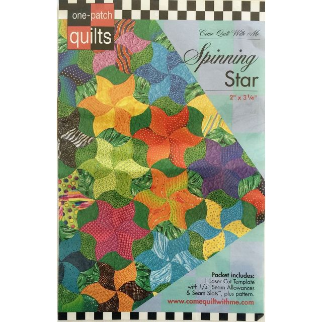 Spinning Star One Patch Pattern & Template by Come Quilt with Me Quilt Blocks - OzQuilts