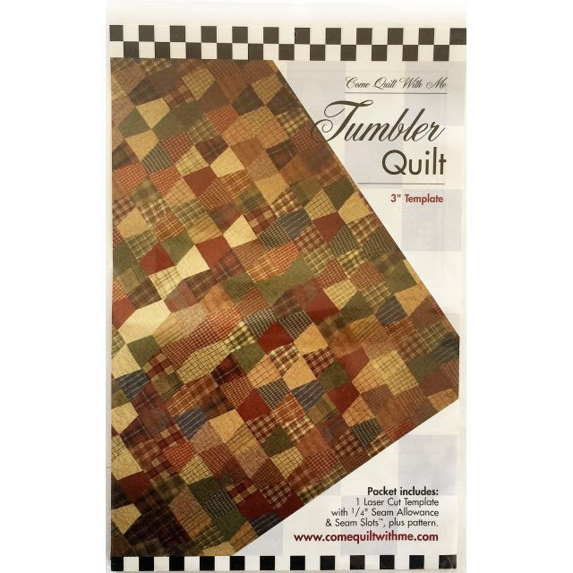 Tumbler One Patch Pattern & Template by Come Quilt with Me - Quilt Blocks