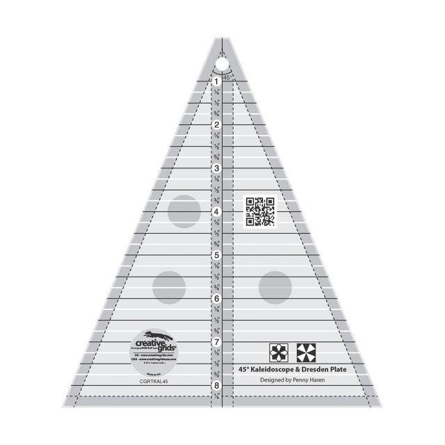 Creative Grids Kaleidoscope & Dresden Plate Triangle by Creative Grids Kaleidoscope Rulers - OzQuilts