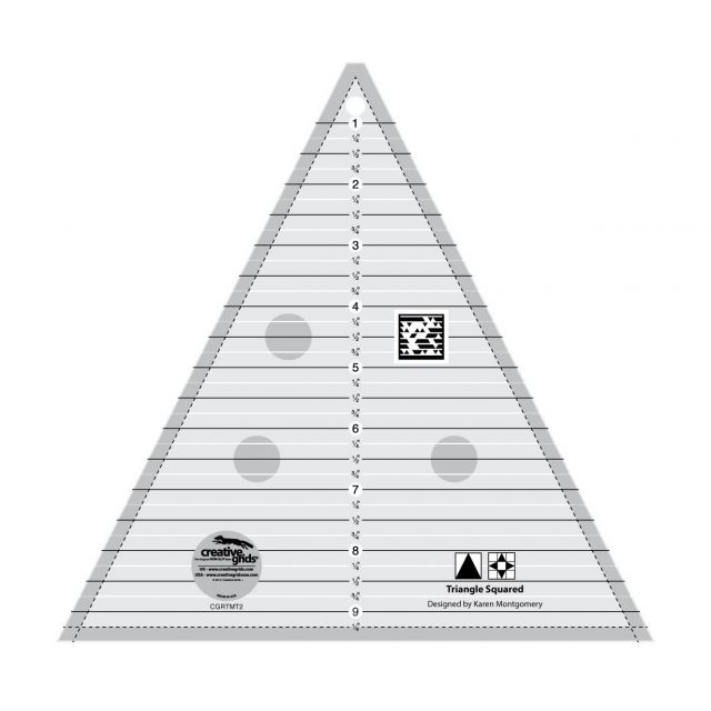 """Creative Grids 9½"""" Triangle Squared Ruler by Creative Grids - Triangles"""