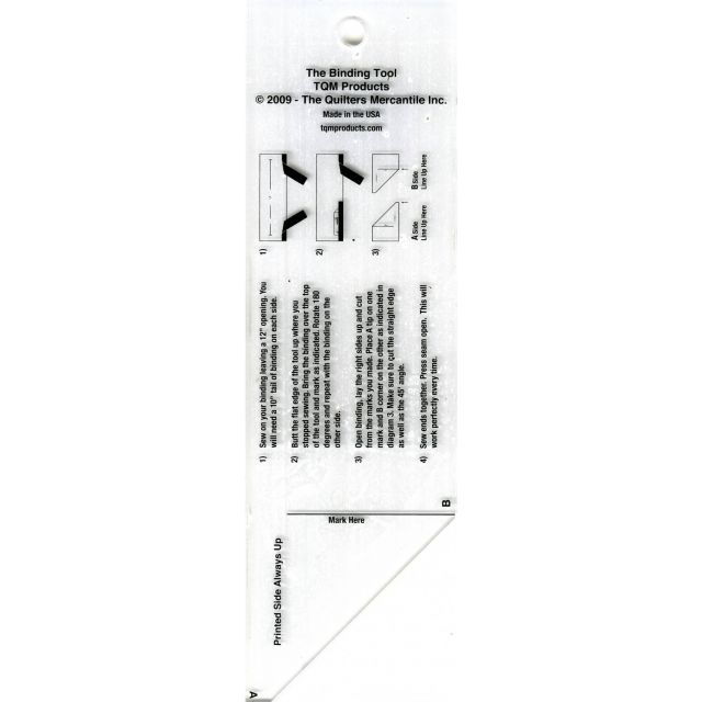 The Binding Tool Template Ruler by TQM Products Bias, Binding, Mitering, Piping Rulers - OzQuilts