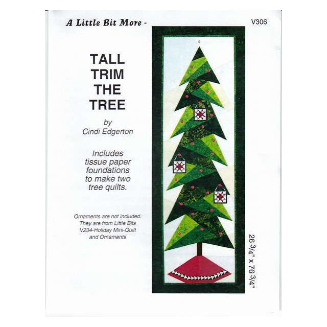 Tall Trim the Tree Pattern and Tissue Foundation Papers by A Very Special Collection Patterns & Foundation Papers - OzQuilts