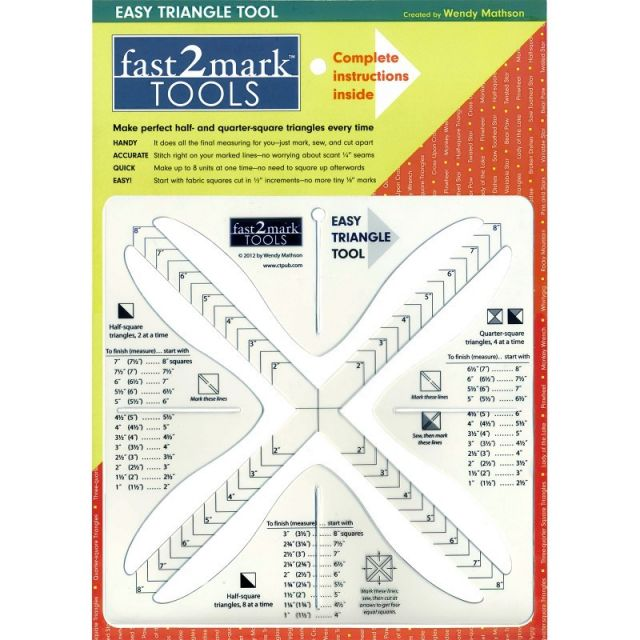 Fast2mark Easy Triangle Tool by C&T Publishing Quilt Blocks - OzQuilts