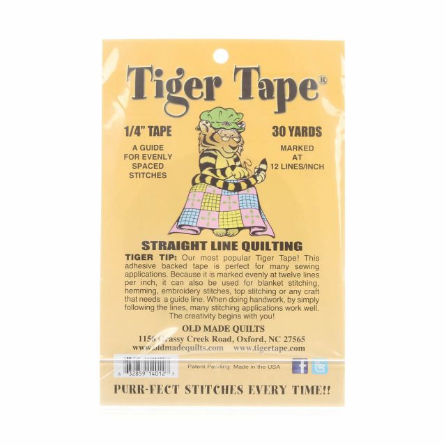 Tiger Tape 12 marks per inch x 30 yards by Old Made Quilts Marking Tape - OzQuilts
