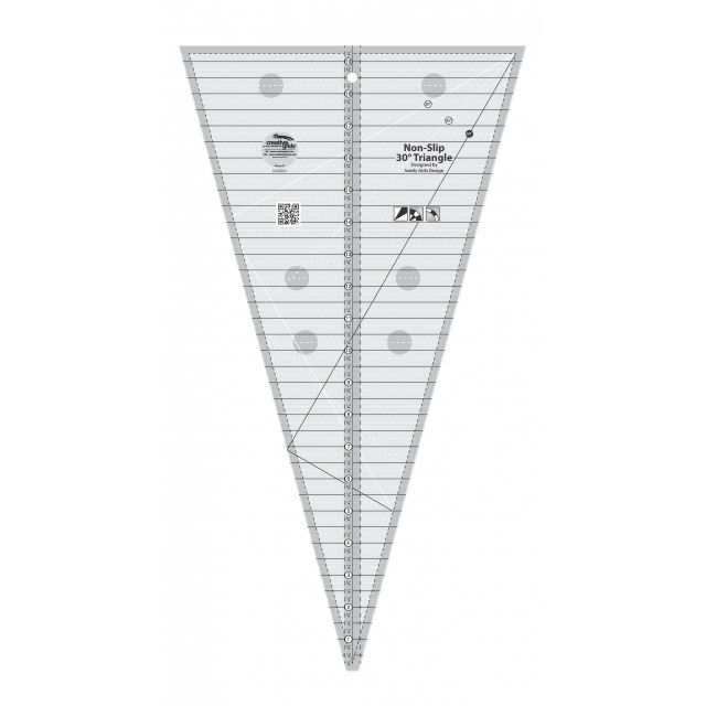 Creative Grids 30 Degree Triangle Ruler by Creative Grids Triangle Rulers - OzQuilts