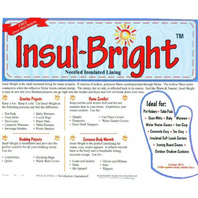 "Insul-Bright Heat Resistant Batting , 22.5"" wide by The Warm Company Batting by the Metre - OzQuilts"