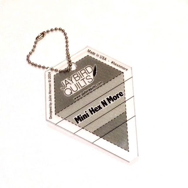 Mini Hex N More Keychain Ruler by Jaybird Quilts - Hexagon Rulers