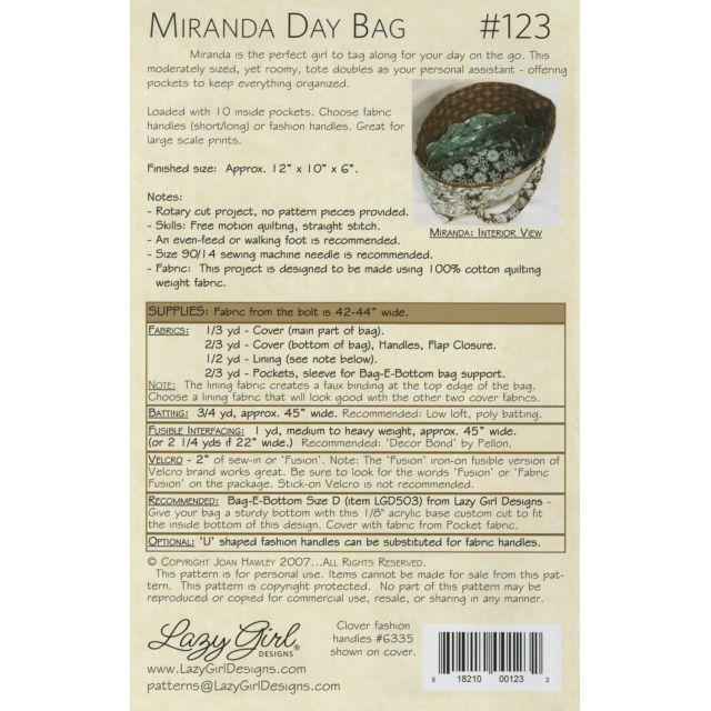 Miranda Day Bag by Lazy Girl Designs - Bag Patterns