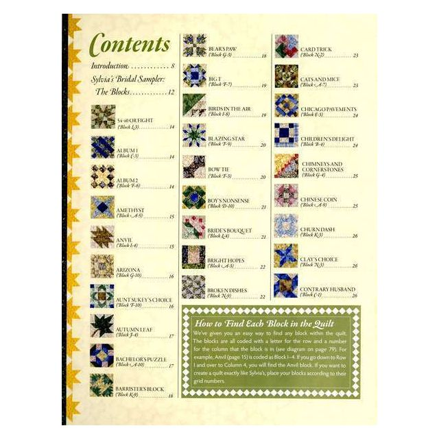 Sylvia's Bridal Sampler from Elm Creek Quilts by C&T Publishing Reproduction & Traditional - OzQuilts