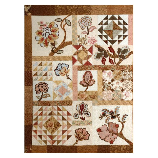 The Graceful Garden: A Jacobean Fantasy Quilt by Kansas City Star Reproduction & Traditional - OzQuilts