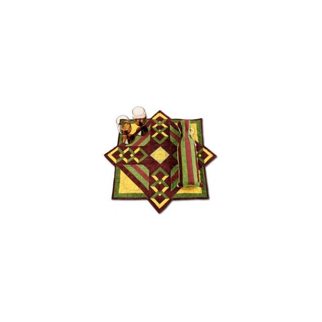 Diamond Wine Wall Hanging & Table Topper by Bright Quilting Notions - Table Toppers, Tuffets & Runners