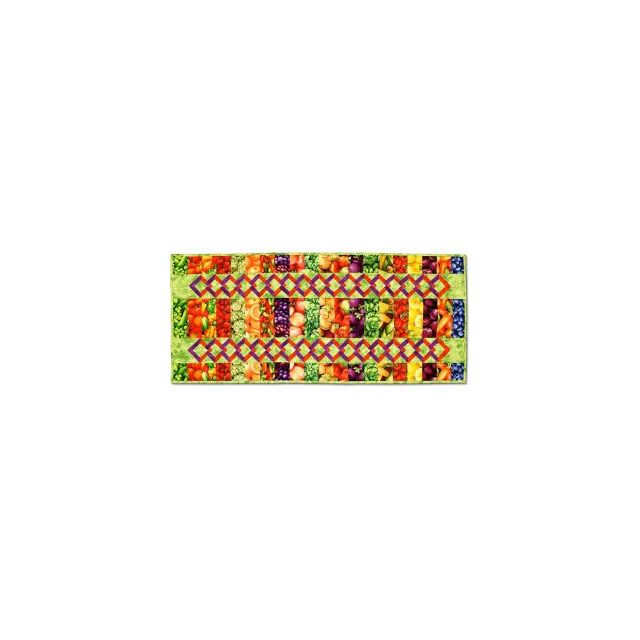 Veggie Runner Table Topper by Bright Quilting Notions - Table Toppers, Tuffets & Runners