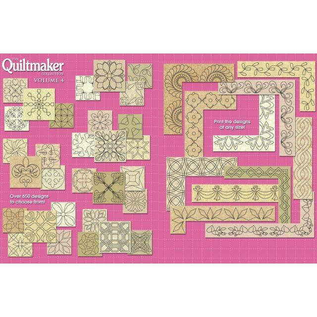 Quiltmaker Quilting Designs Cd : Quiltmaker s Quilting Motifs Volume 4